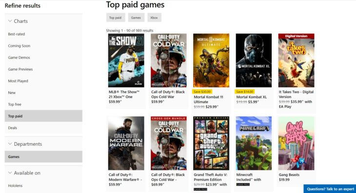Microsoft Store Games - Screenshot - 04-05-21