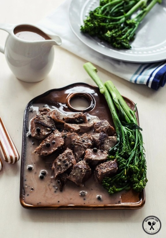 Creamy Peppercorn Sauce for Steak