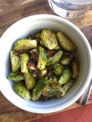 Paleo, Keto, Whole30 Garlic Brussels Sprouts | Wholsome-joy.com