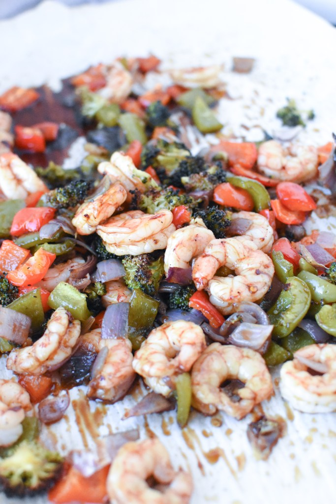 Whole30 Sheet Pan Asian Shrimp| Wholesome-joy.com