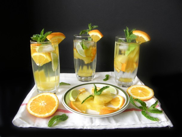 Orange Pineapple Lime Flavored Water
