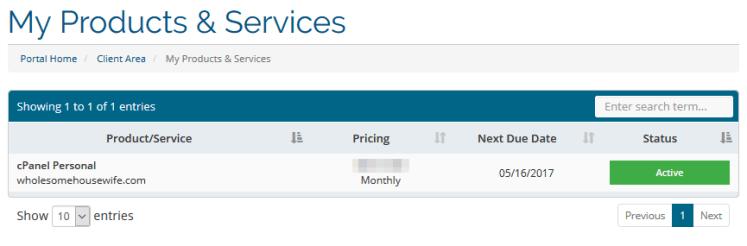 Services list