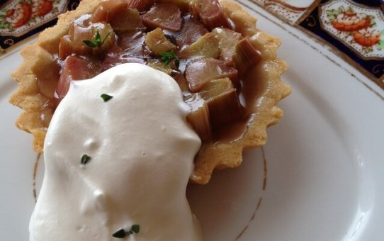 Rhubarb and Thyme Tartlet