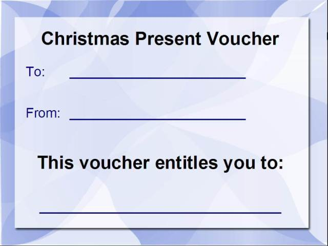 Christmas Voucher Pic