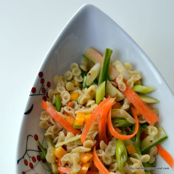 Quick Warm Pasta Salad