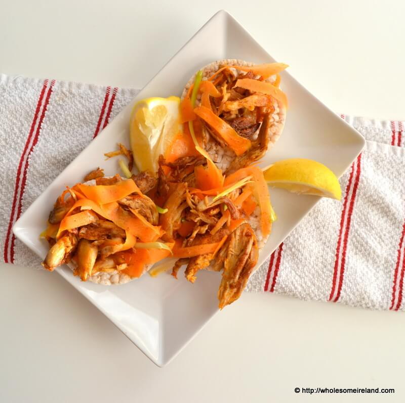 Turkey Carrot Rice Crackers