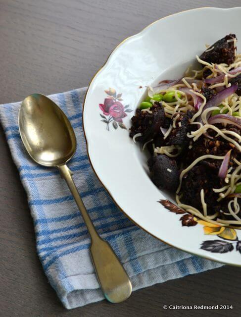 Black Pudding Noodle Salad