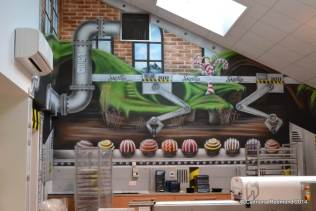 Wall Mural at the Skellig Chocolate Factory