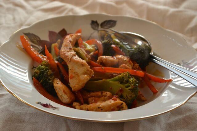 Chilli Chicken Veg Supper