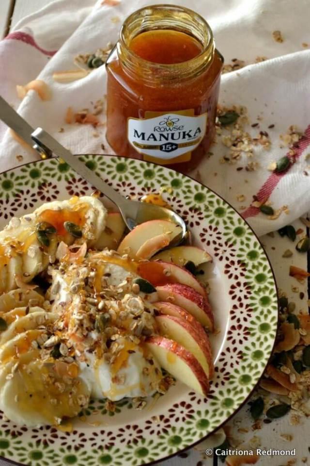 One Pan Granola With Manuka Honey