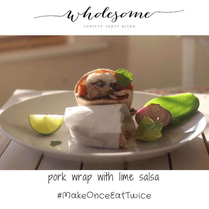 Pork Wrap With Lime Salsa
