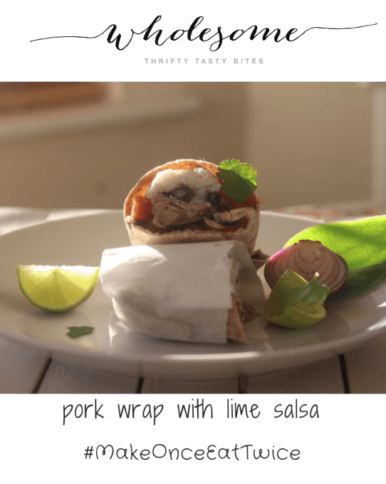 Pork Wrap With Lime Salsa