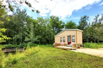 tiny house in natural paradise, tiny houses for rent in manitoba, tiny houses for rent in matlock