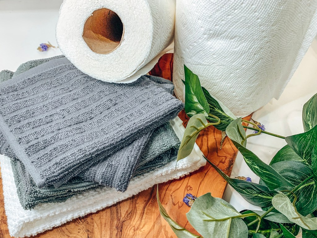 ditch the paper towels, no paper towels, 30 day zero waste challenge