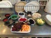 Easy overnight oatmeal and fresh fruit