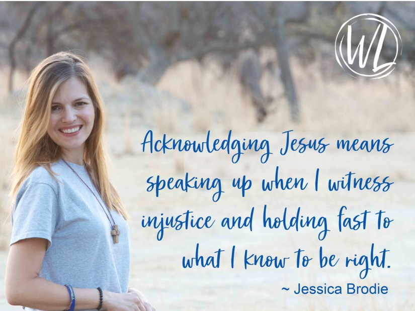 Picture of Jessica with text pulled from post