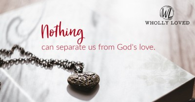 God's love is constant on an image with a heart locket