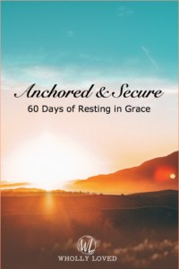 Cover for Anchored and Secure devotional