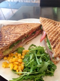 Awesome sandwich at The Coffee Bean