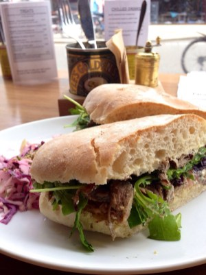 Roast beef sandwich at Brother Hubbard