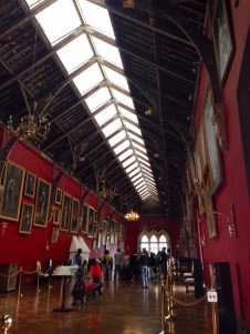 The great hall of the castle