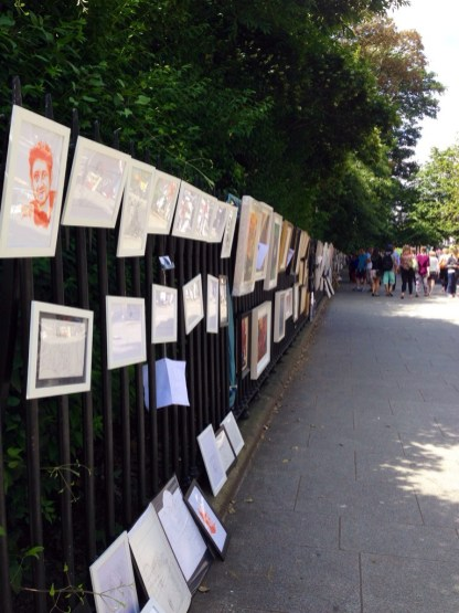 Art vendors on St. Stephen's Green