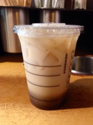 Iced chai before stirring...