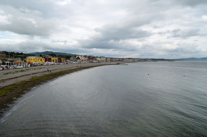 An amazing view of Bray from the walk up the hill
