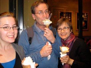 Enjoying gelato!