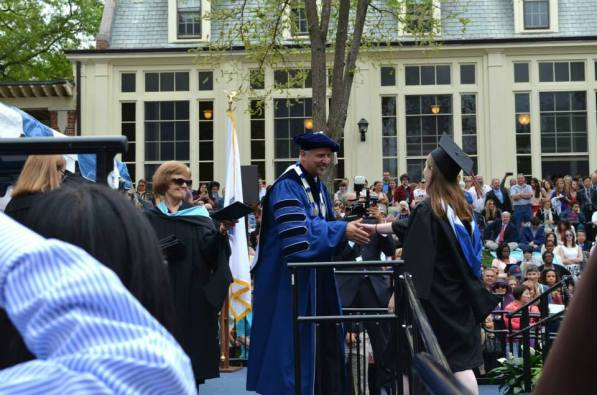Getting my (fake) diploma from Prez Hanno!