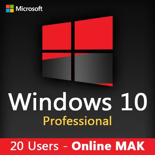 WINDOWS 10 PRO 20 Users license key online mak