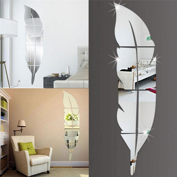 Feather Acrylic Wall Mirror