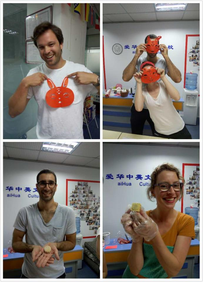 Paper making and mooncake making.. It has to be the Mid-Autumn Festival!