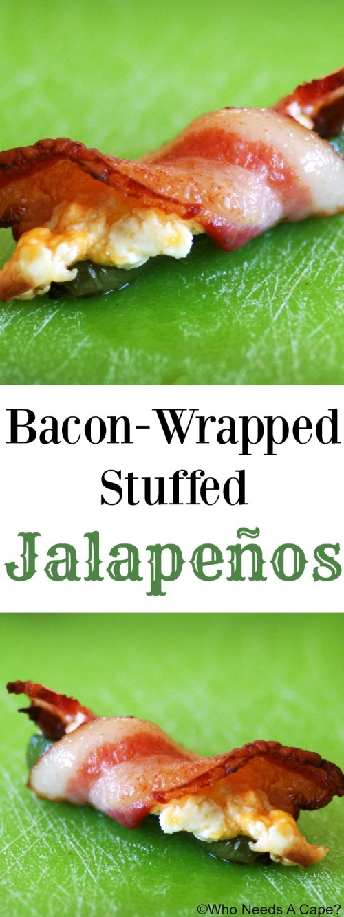 Bacon-Wrapped Stuffed Jalapeños are always a party favorite! Tender bits of steak, cheese and bacon all settled on top of a jalapeño, what's not to love?