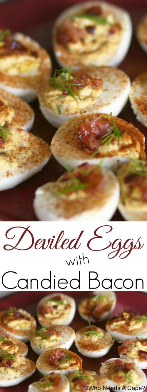 These Deviled Eggs with Candied Bacon are a sure-fire party hit, every single time. Add these to your appetizer table and watch them disappear.
