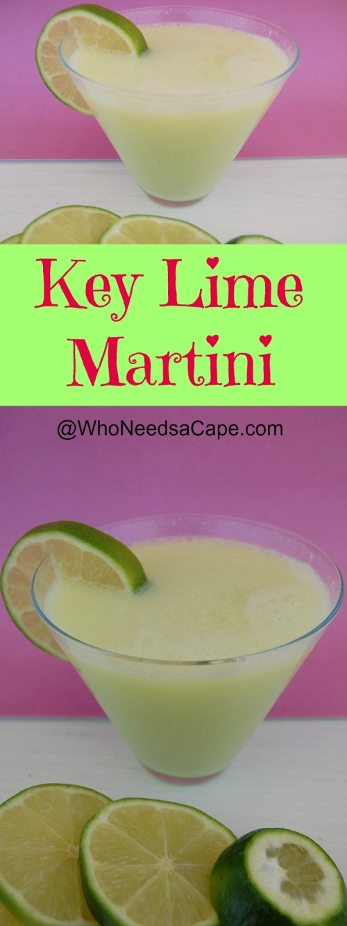 The Key Lime Martini is a perfect cocktail to make! With a flavor that's not too strong, not too sweet. Great for happy hour & summertime sipping!