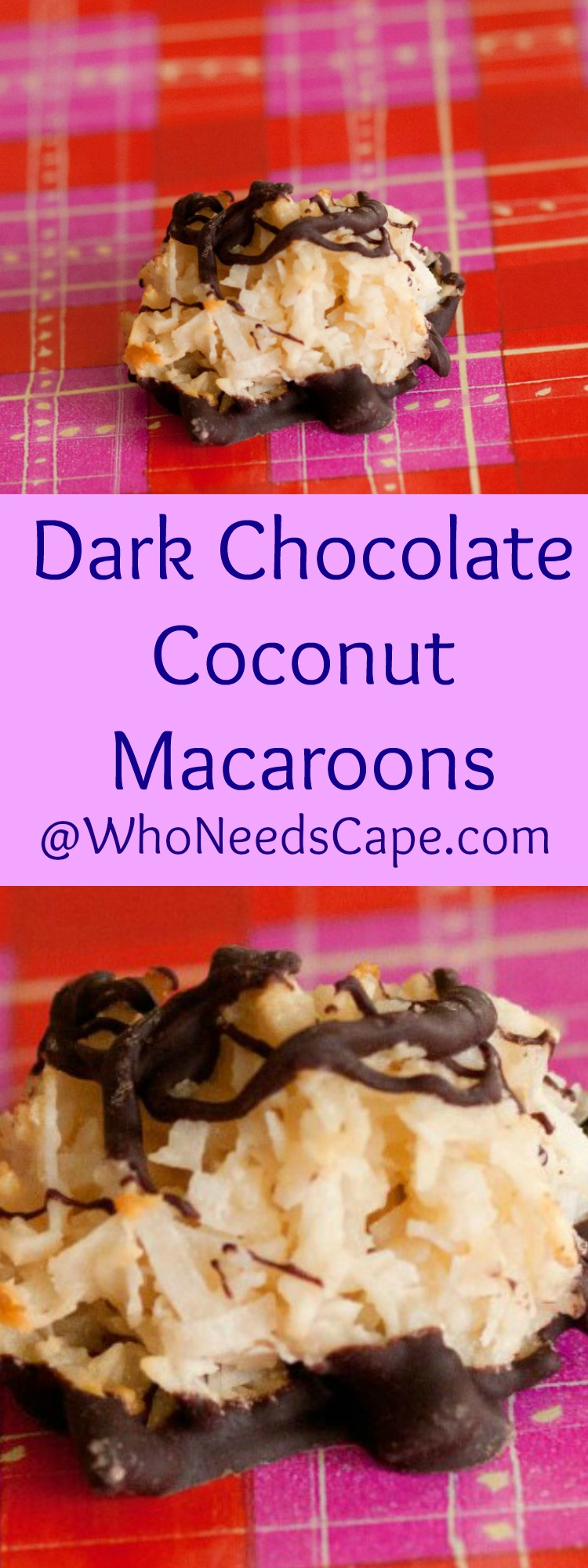 Dark Chocolate Coconut Macaroons are so delicious you're going to want to make them today!