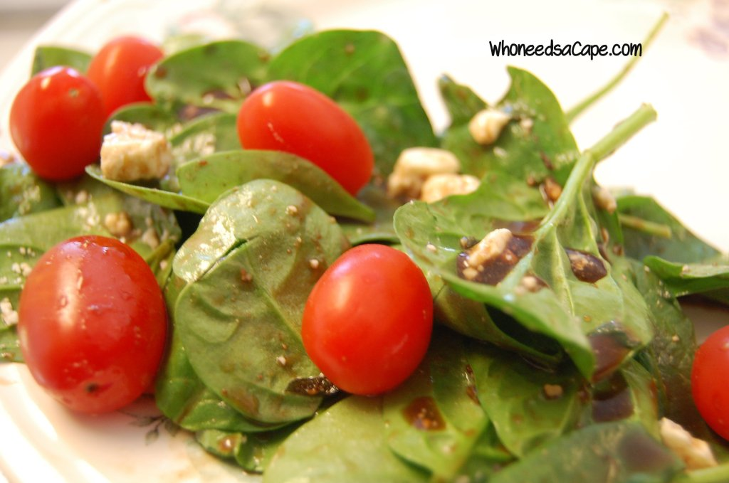 Salad that isn't boring? Yes indeed! Make a big bowl of Spinach Salad with Honey Balsamic Dressing and watch it disappear fast! Such amazing flavors!