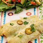 Creamy Jalapeno Chicken Enchiladas