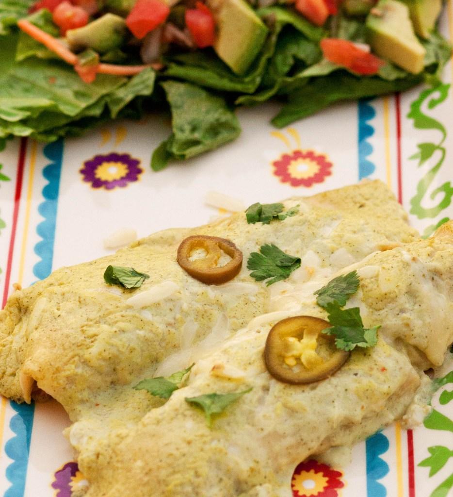 creamy jalapeno enchiladas