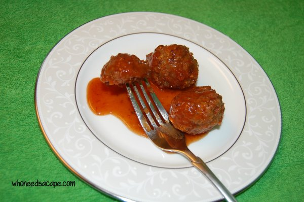 The Easiest Sweet & Sour Meatballs Ever | Who Needs A Cape?