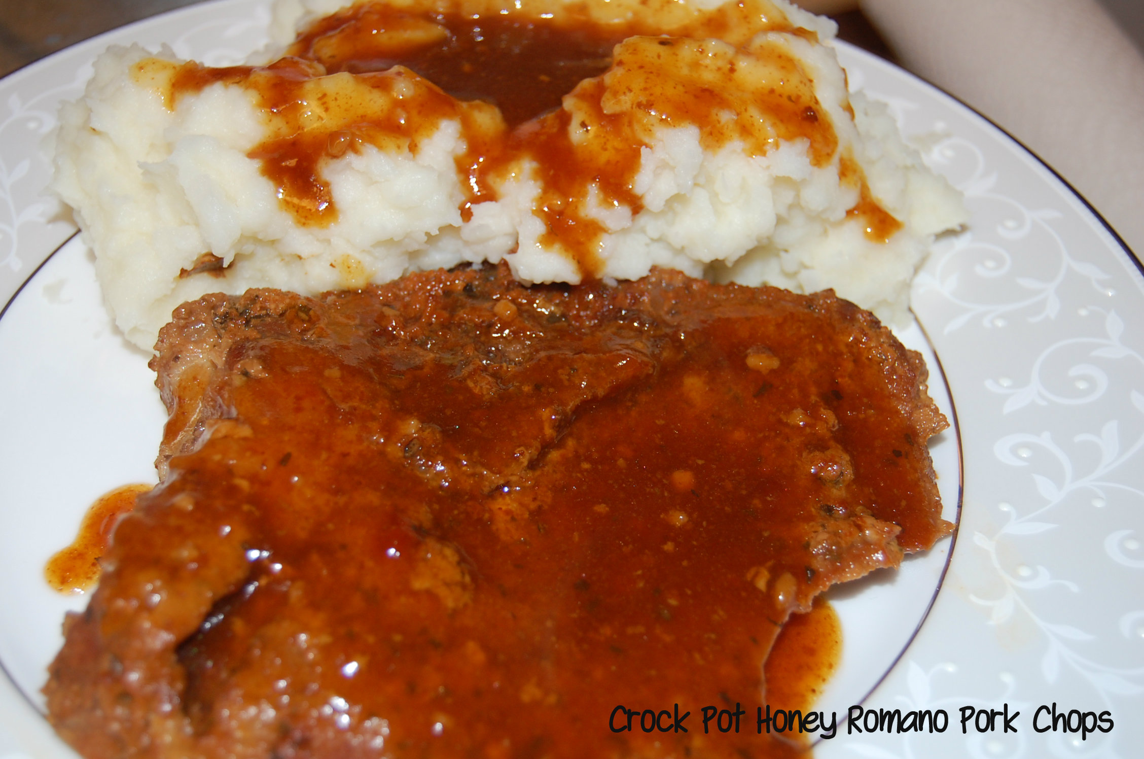 Crock Pot Honey Romano Pork Chops