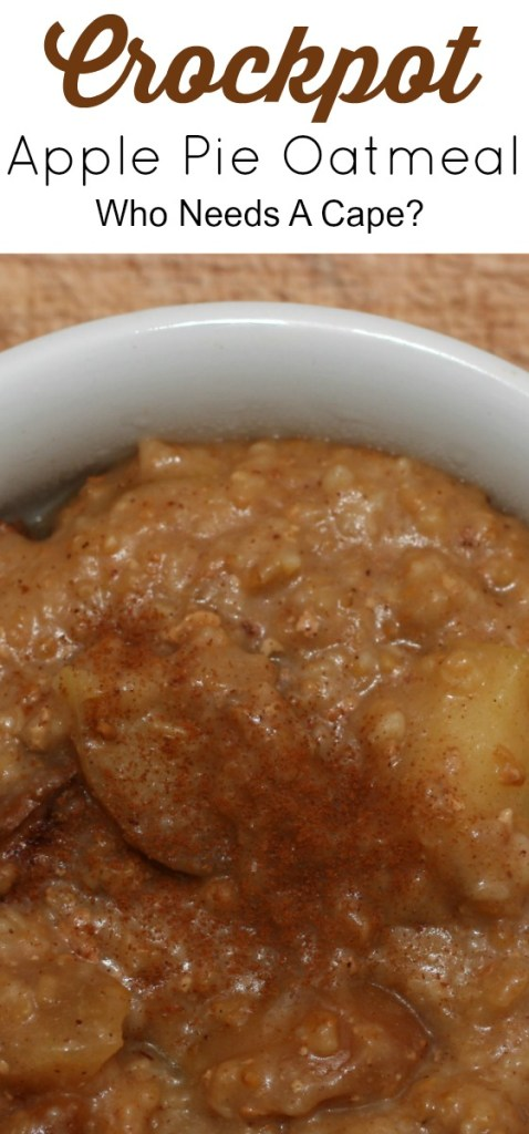 Get your slow cooker out and make some delicious Overnight Crockpot Apple Pie Oatmeal. Perfect breakfast to get your day started.