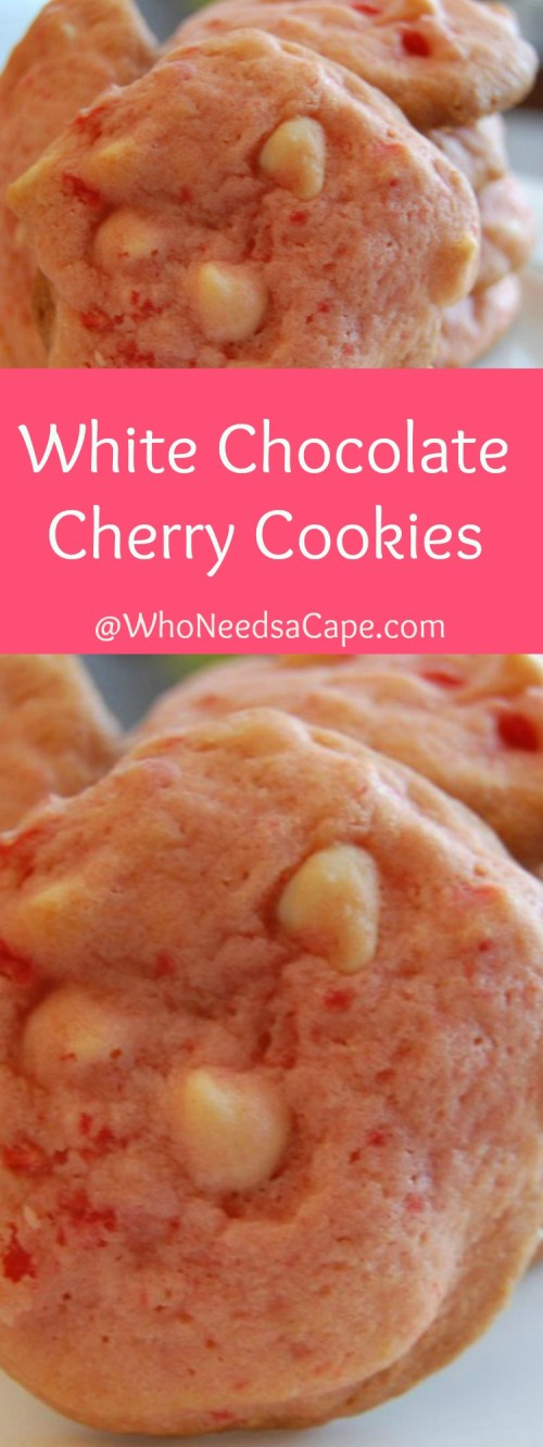 White Chocolate Cherry Cookies are a delicious treat! Bake them for Christmas, Valentine's Day or every day, they are a great dessert!