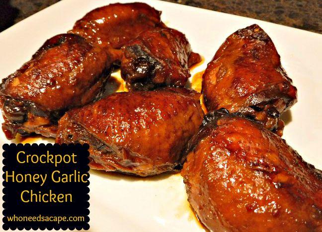 Crockpot Honey Garlic Chicken - Who Needs A Cape?
