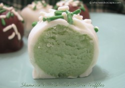 Throw Back Thursday ~ Shamrock No Bake Cake Truffles