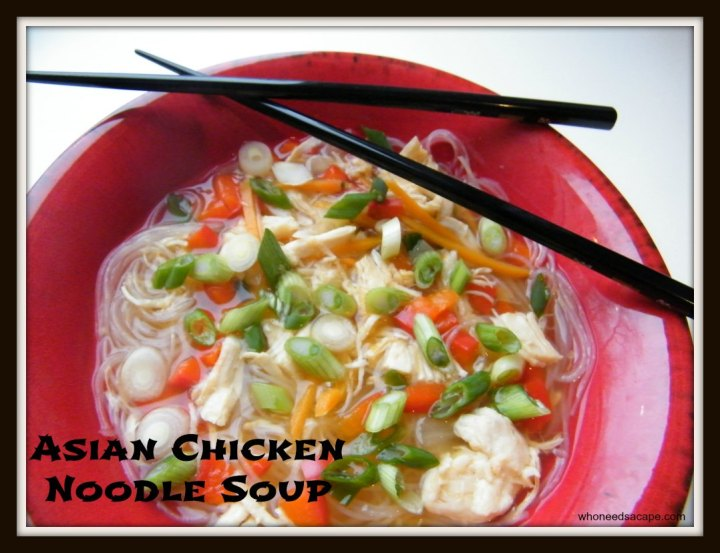 Liven up your dinnertime routine with a flavorful bowl of Asian Chicken Noodle Soup. Easy to make your family will love the noodles and burst of flavor.