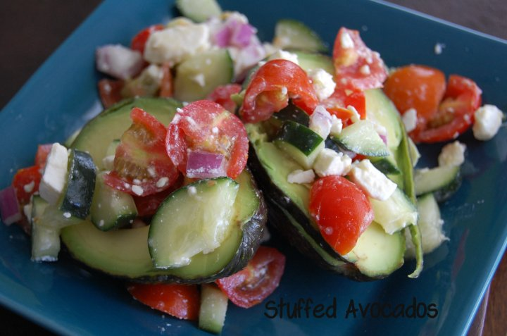 These Stuffed Avocados make a lovely light meal. Packed full of freshness, and loaded with flavor you'll love how easily you can make these.