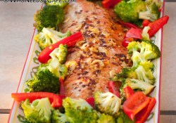Orange Ginger Glazed Salmon