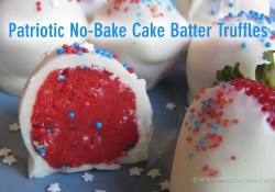 Throw Back Thursday ~ Patriotic No-Bake Cake Batter Truffles